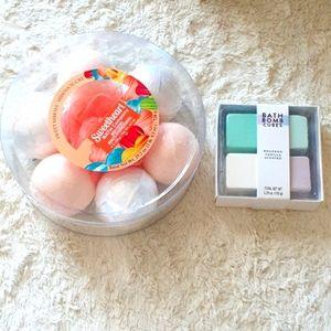 7pc Bath Fizzy Collection & 4pc Bath Bomb cubes